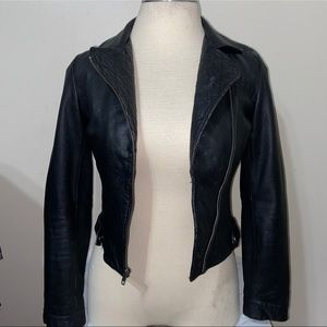Dallin Chase by all saint Biker leather jacket